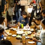 撮影2日目~博多華丸さん、国生さゆりさん現場入り